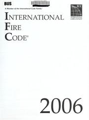 Cover of: International fire code 2006 | 2006.