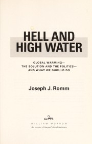 Cover of: Hell and high water | Joseph J Romm