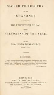 Cover of: Sacred philosophy of the seasons