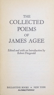 Cover of: The collected poems of James Agee