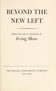 Cover of: Beyond the new left