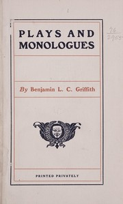 Cover of: Plays and monologues