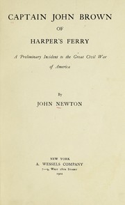 Cover of: Captain John Brown of Harper