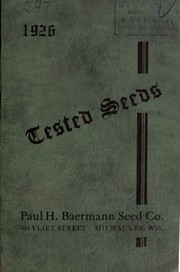 Cover of: 1926 tested seeds