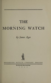 Cover of: The morning watch