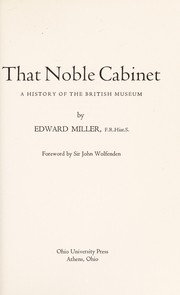 Cover of: That noble cabinet : a history of the British Museum |