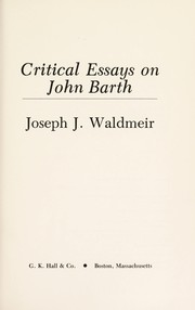 Cover of: Critical essays on John Barth