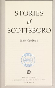 Cover of: Stories of Scottsboro | James E Goodman
