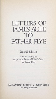 Cover of: Letters of James Agee to Father Flye