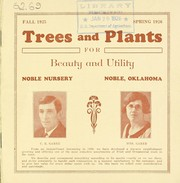 Cover of: Trees and plants for beauty and utility | Noble Nursery