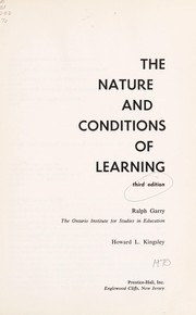 Cover of: The nature and conditions of learning