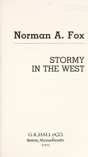 Cover of: Stormy in the West