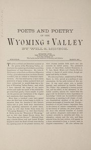 Cover of: Poets and poetry of the Wyoming Valley