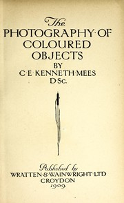 Cover of: The photography of coloured objects