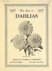 Cover of: The best dahlias in 1926 | Ballay