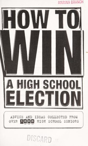 Cover of: How to win a high school election | Jeff Marx