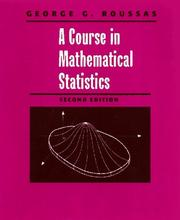 Cover of: A course in mathematical statistics