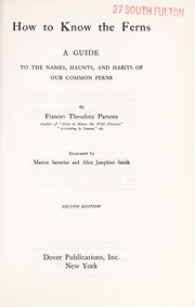 Cover of: How to Know the Ferns | Frances Theodora Parsons