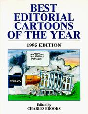 Cover of: Best Editorial Cartoons of the Year, 1995 | Charles Brooks