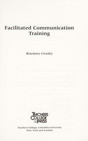 Cover of: Facilitated communication training