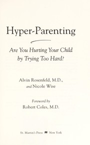 Cover of: Hyper-parenting