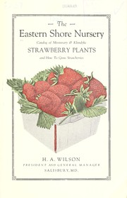 Cover of: Catalog of Missionary & Klondyke strawberry plants | Eastern Shore Nursery