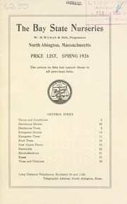 Cover of: Price list, spring 1926