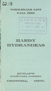 Cover of: Hardy hydrangeas | D.S. Dunlap (Firm)