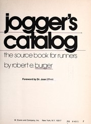 Cover of: Jogger's catalog