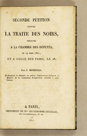 Cover of: Seconde pétition contre la traite des noirs