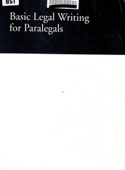 Cover of: Basic legal writing for paralegals