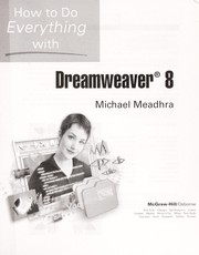 How to do everything with Dreamweaver 8 by Michael Meadhra