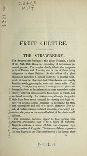 Cover of: Fruit culture, or the culture and forcing of fruits | G. MacEwen