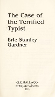 Cover of: The case of the terrified typist