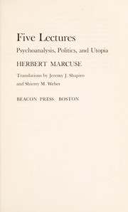 Cover of: Five lectures