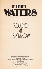 Cover of: Ethel Waters, I touched a sparrow | Twila Knaack