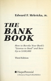 Cover of: The bank book