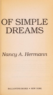 Cover of: Of Simple Dreams