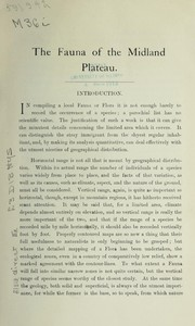 Cover of: Introduction to the fauna of the Midland plateau | P. E. Martineau