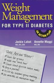 Cover of: Weight management for type II diabetes