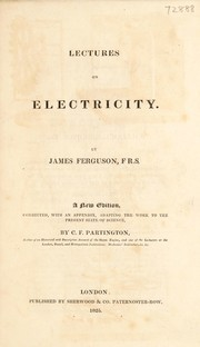 Cover of: Lectures on electricity