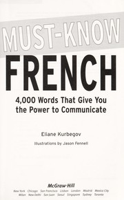 Cover of: Must know French | Eliane Kurbegov