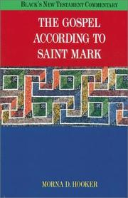 Cover of: The Gospel According to Saint Mark