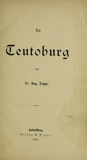Cover of: Die Teutoburg