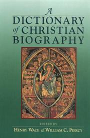 Cover of: A Dictionary of Christian Biography