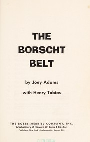 Cover of: The Borscht Belt
