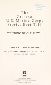Cover of: The greatest U.S. Marine Corps stories ever told |