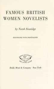 Cover of: Famous British women novelists. | Norah Smaridge