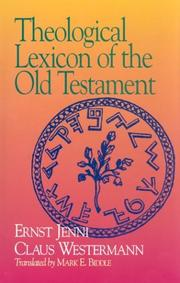 Cover of: Theological Lexicon of the Old Testament (English, Hebrew, Aramaic and German Edition)