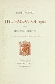Cover of: The Salon of 1900 and the Decennial Exhibition